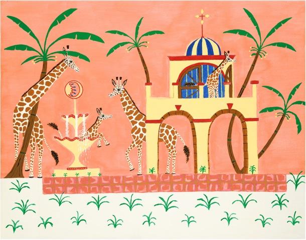 Lounging Giraffes